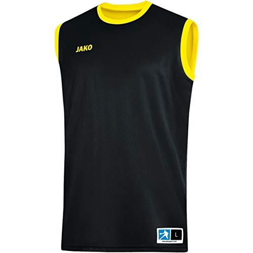 JAKO Change 2.0 Camiseta Reversible, Infantil, Negro/Amarillo, Extra-Small