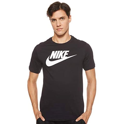 Nike Sportswear Icon Futura, T-Shirt Uomo, Nero (Black/White 010), Medium
