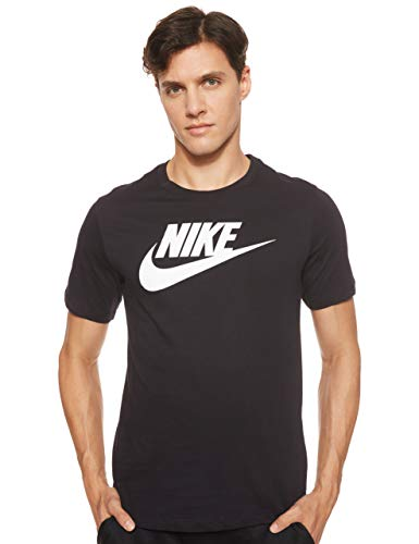 Nike Herren M NSW Tee ICON Futura T-Shirt, Black/(White), M