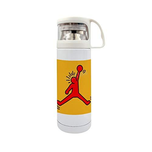 Funny Stainless Steel Vacuum Insulated Travel Mug Jumpman Jordan - Keith Haring Travel Mug 14oz/350ml