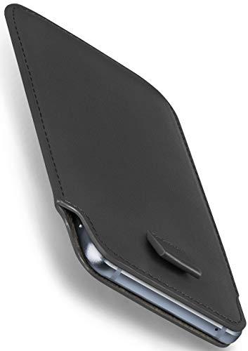 MoEx Nokia 8110 4G | Hülle Grau Sleeve Slide Cover Ultra-Slim Schutzhülle Dünn Handyhülle für Nokia 8110 4G Hülle Full Body Handytasche Kunst-Leder Tasche