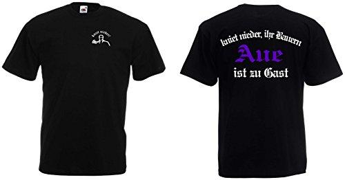World of Shirt Herren Polo-Retro Shirt AUE Ultras kniet nieder