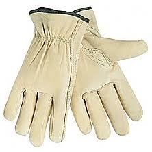 Medium Leather Work Gloves 3 pack Durable Cowhide Leather for Construction, Industrial & Personal Use. Small to XX Large Sizes Available