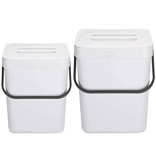 Best Buy! Beautylover Compost Bin for Kitchen Food Composter Hanging Waste Bin 2 Pack Mountable Comp...