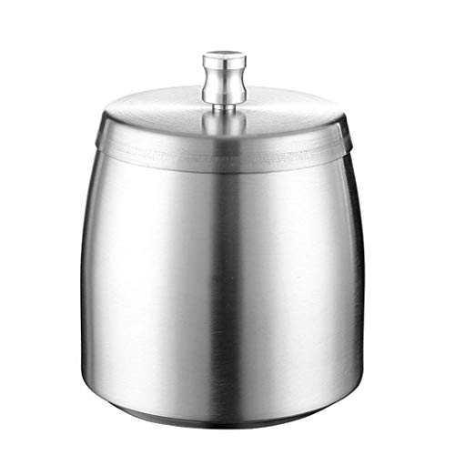 OH Ashtray Stainless Steel Windproof Ashtray with Lid,Large Capacity,for Patio/Outside/Indoor/Home Decor/Office,Beautiful Tabletop Smoke Ashtray Ashtray Indoor Fashion/Silver/Sm