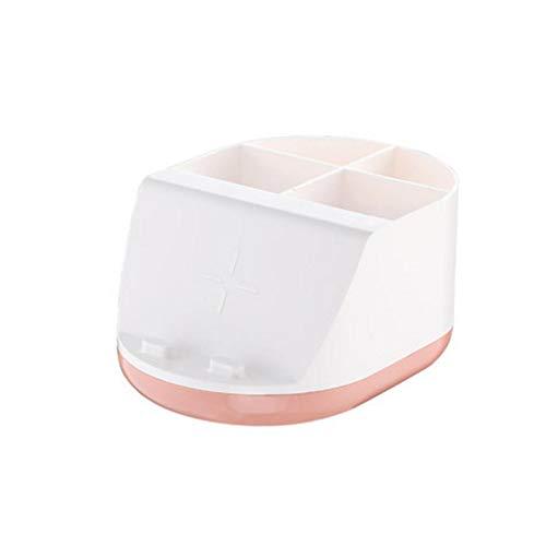 SMEJS Caja de almacenamiento cosmética de gran capacidad para almacenamiento de tocador, caja de almacenamiento para escritorio de casa (color: A)