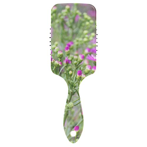 Purple Cutter Flower In Garden Air Cushion Comb Large Detangling Brush Best Detangling Brush For Kids For Blow-drying Detangling Straighten Comb All Hair Type Hair Brushes For Girls Human Ha