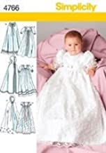 Simplicity Sewing Pattern 4766 Babies Christening Gowns, A (XXS-XS-S-M-L)