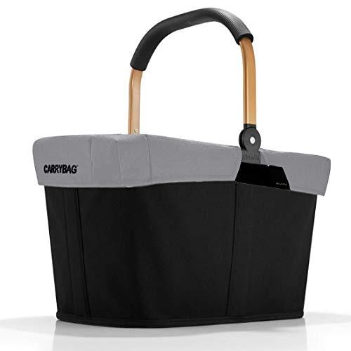 reisenthel Angebot Einkaufskorb carrybag Plus passendes Cover Sichtschutz Abdeckung (Frame Gold/Black Reflective)