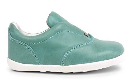 Bobux Step Up Duke Shoes_Primeros Pasos - Una Zapatilla Deportiva de Piel de Suela Flexible y Resistente. (Teal, Numeric_20)