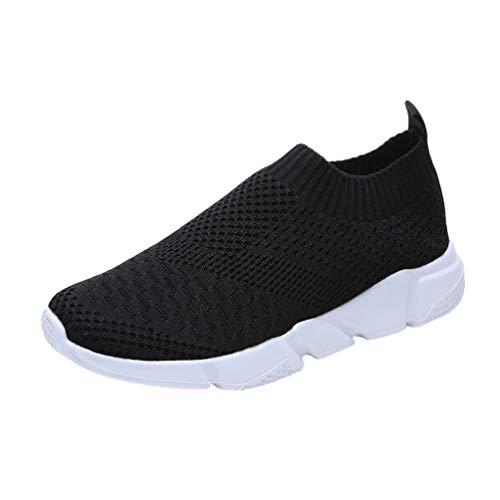 Heheja Scarpe Sportive Donna Scarpe da Ginnastica Leggero Scarpe da Corsa Palestra Running Sneaker Outdoor Respirabile Nero Asia 39(24.5cm)