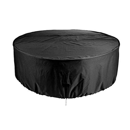 Ensembles de meubles de patio circulaire noir, canapé et jeux d'hiver de imperméable et anti-poussière anti-UV (185 × 110cm) (Size : 185×110cm)