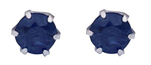 Platin Saphir Ohrringe für Frauen