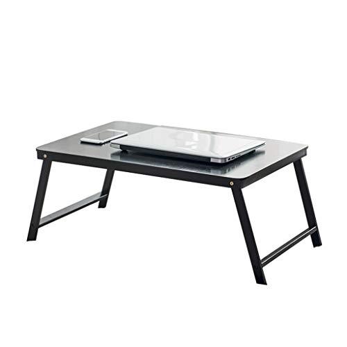 Bureaumeubel LiuJF klaptafel, nachtkastje student kind educatief bureau laptop tafel kleine salontafel meerkleurige bamboetafel verdikte plaat 60 * 39 * 27CM donkerbruin