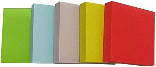 Chenkou Craft 5pcs Square Rubber Stamp Carving Blocks for Stamps 5color/Set (set3)