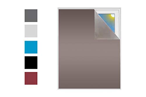 Verdunklungsstoff Sonnenschutz zu 100% Blackout Verdunkelungsstoff Thermobeschichtet Meterware für Fenster und Türen 100% verdunkelnd lichtundurchlässig Schrägdachfenster (Bronze)