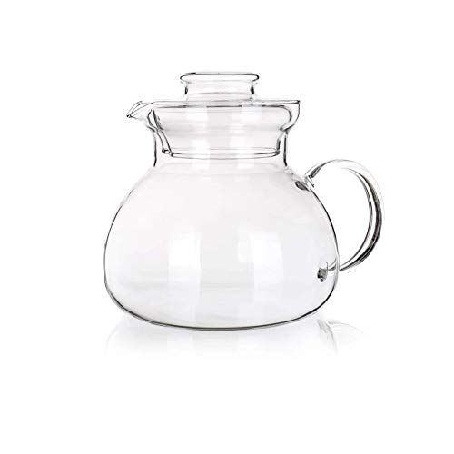 Simax Glassware Teapot | Microwave and Stovetop Safe, Heat, Cold, and Thermal Shock Resistant Borosilicate Glass, Makes a Stunning Presentation (1.5-Quart)