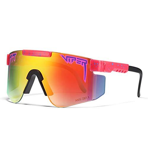 HUALUWANG Ciclismo al Aire Libre Pit Viper Polarizadas Gafas de Sol Gafas de Running Anti-UV para Hombre y Mujer