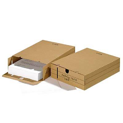 25 Archivboxen 8 cm braun / 24,4 x 32,1 x 8,5 cm