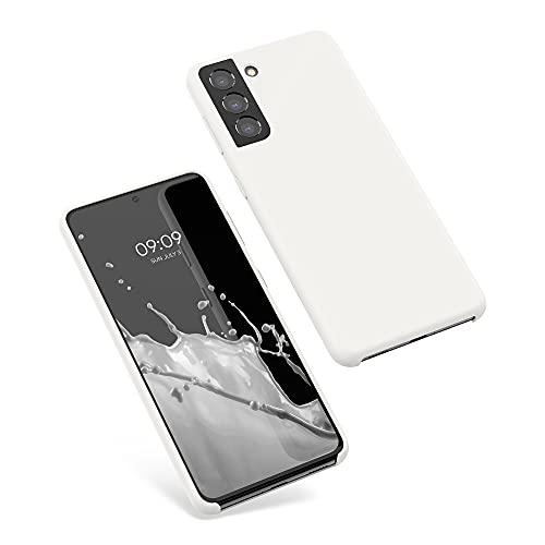 kwmobile Cover Compatibile con Samsung Galaxy S21 - Custodia in Silicone TPU - Back Case Protezione Cellulare Bianco Matt