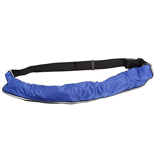 REALM-ARK Correa de Cintura Inflable Segura del Chaleco Salvavidas Inflable con Las Cintas reflexivas y la Correa Ajustable del silbido, rápido para inflar(Azul)