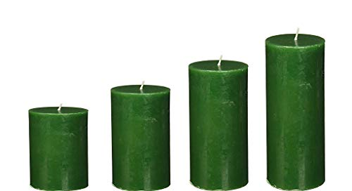 Spiritual World Highly Fragranced Tea Tree Scented Aromatic Pillar Candles Home Decorative Long Burning Aromatherapy Christmas Candles Gift Set