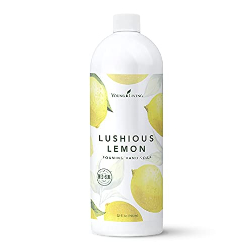 Young Living Lushious Lemon Foaming Hand Soap - Bright, Citrusy Aroma - 32 oz