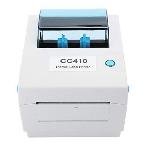 Deansh Impresora de Etiquetas, conexión USB Bluetooth Impresora térmica Barcod 203DPI con función de detección de Falta de Papel, admite Ajuste automático del tamaño de impresión(Enchufe de la UE)