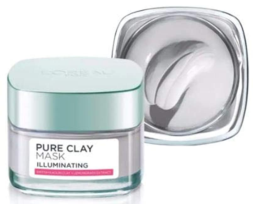 L'OREAL Pure Clay Mask - Illuminating 50g -Smoothens and softens Skin and eliminates Dead Cells; decongests pores and regulates sebum Secretion hrnpxgic0