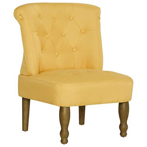 Tidyard Französischer Stuhl Relaxsessel Sessel Polstersessel Loungesessel Fernsehsessel 54 x 66,5 x 70 cm,Clubsessel Sofa Möbel Esszimmerstuhl Polsterstuhl für Esszimmer & Wohnzimmer