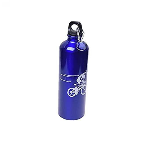 Tuimiyisou Botella De Montaña Bici De Agua Caldera De La Botella De Aluminio De Aleación De Deportes Acuáticos De Montar a Caballo De La Caldera con Mosquetón Azul