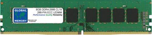 8GB DDR4 2666MHz PC4-21300 288-PIN ECC DIMM (UDIMM) Memoria RAM para SERVIDORES/Estaciones DE Trabajo/Placas Base