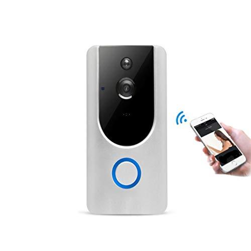 QLPP Timbre 720P HD WiFi Seguridad cámara de vídeo, vídeo en Tiempo Real y de Doble vía Talk, Sensor de Movimiento, visión Nocturna, Control de Aplicaciones en Android iOS