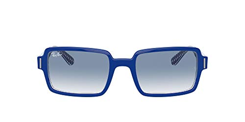 Ray-Ban 0RB2189 Lentes oscuros, BLUE ON VICHY BLUE/WHITE, 54 Unisex