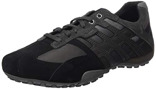 Geox Mens Uomo Snake K Sneaker, Black/Anthracite, 43 EU