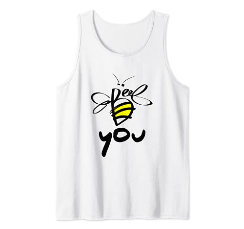 Bee You Motivational Novelty Graphic Tees & Cool Designs Camiseta sin Mangas