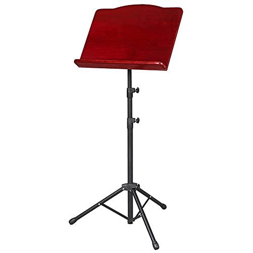 Atril de música portátil Plegable, Piano, violín, Uso de Guitarra, Panel de Madera con Soporte de trípode Ajustable Negro (Color: Color Madera) Duradero