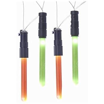 Kurt Adler Star Wars Lightsabers Light Set  Green Standard