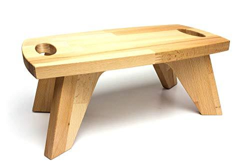 WoodBi Kinderhocker aus Massivholz Buche, Kinderstuhl Tritthocker Schemel, Sitzfläche 34x18, Höhe 14cm (ohne Gravur)