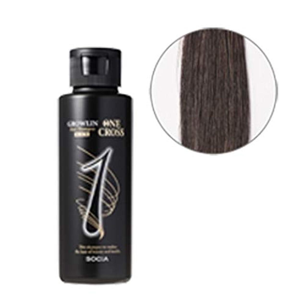 ソシア (SOCIA) グローリン?ワンクロス (ブラック) 自然に染まる 白髪染めシャンプー (100ml 約1ヶ月分) 無添加 アミノ酸系 カラーリングシャンプー