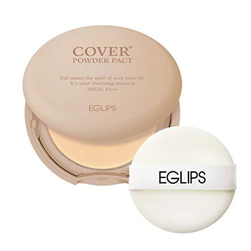 EGLIPS Cover Powder Pact Plus(SPF25/PA++)#23 9g/0.3oz - Pressed Powder Pact with Mirror and Powder Puff   Setting Powder   Face Powder   foundation powder   Makeup Powder   Finishing Powder   compact powder