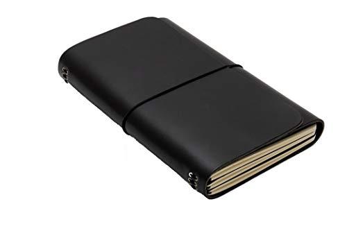 LOUISE CARMEN(ルイーズカルメン) 手帳 ノートカバー フランス製 高級本革 手作りA5スリムサイズ ロードブック ブラック
