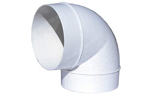 Bogen/Winkel 90° für Abluftrohr Rundrohr Lüftungsrohr Ø 100 mm aus PVC