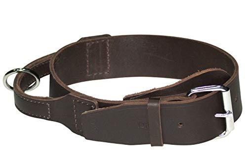 Dingo Braun Halsband aus Weichem Leder mit Griff Speziell für Schäfer Rasse Hund 13103