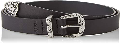 Levi's Mystic Western Belt Cintura, Regular Black, 90 cm Donna