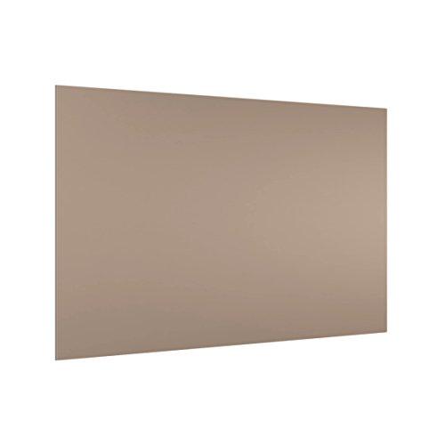 Bilderwelten Panel antisalpicaduras de Cristal - Mocca - Horizontal 2:3, Panel antisalpicaduras Panel de Vidrio para Cocina Panel Protector contra Salpicaduras, Tamaño: 40cm x 60cm