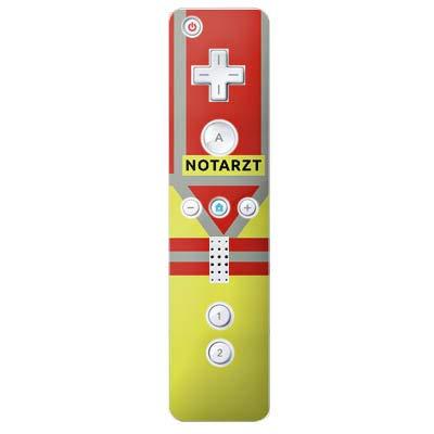 DeinDesign Skin kompatibel mit Nintendo Wii Controller Folie Sticker Beruf Notarzt Uniform