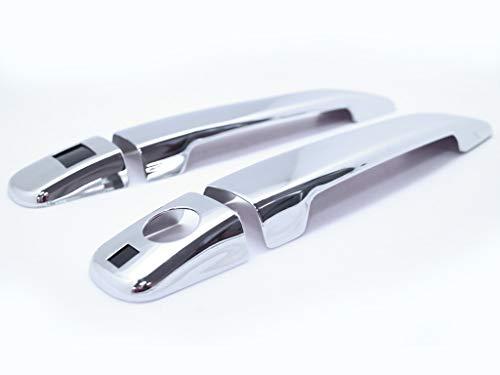 CarLab Benz Chrom-Zubehör, stilvolles Chrom-Zubehör, Aluminium Türgriffabdeckung, schlüssellos, für 97-04 R170 SLK 230 320