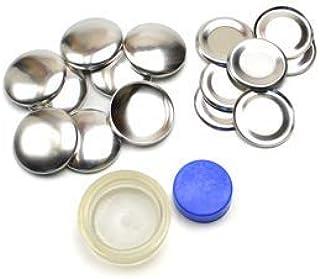 くるみボタンキット 包み つつみ パーツ (打ち具付) 29mm 7組入 (足なしタイプ) 2パッケージセット