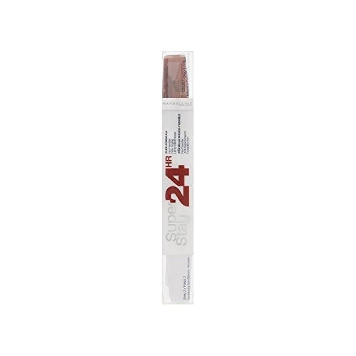 旅影響適格メイベリン24デュアル口紅575ピンクスパイス9ミリリットル x4 - Maybelline SuperStay24H Dual Lipstick 575 Pink Spice 9ml (Pack of 4) [並行輸入品]
